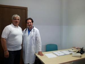 Umberto e  il dott. Fabio Scuto